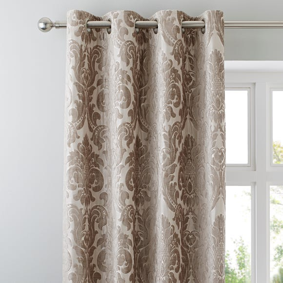 Versailles Natural Eyelet Curtains Natural undefined