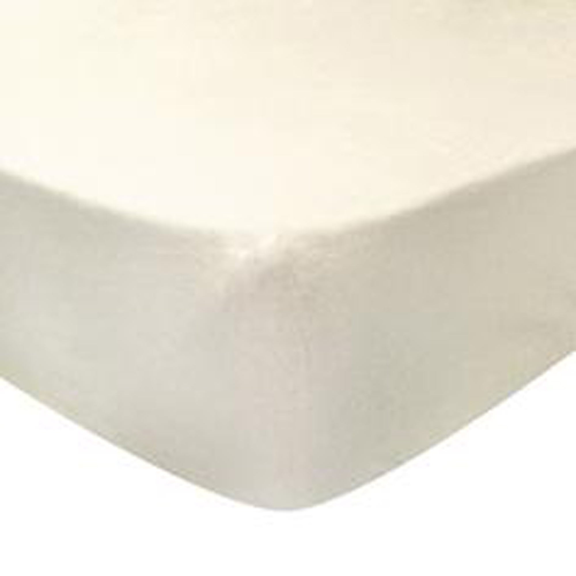 Photo of Luxury brushed cotton standard 28cm fitted sheet cream