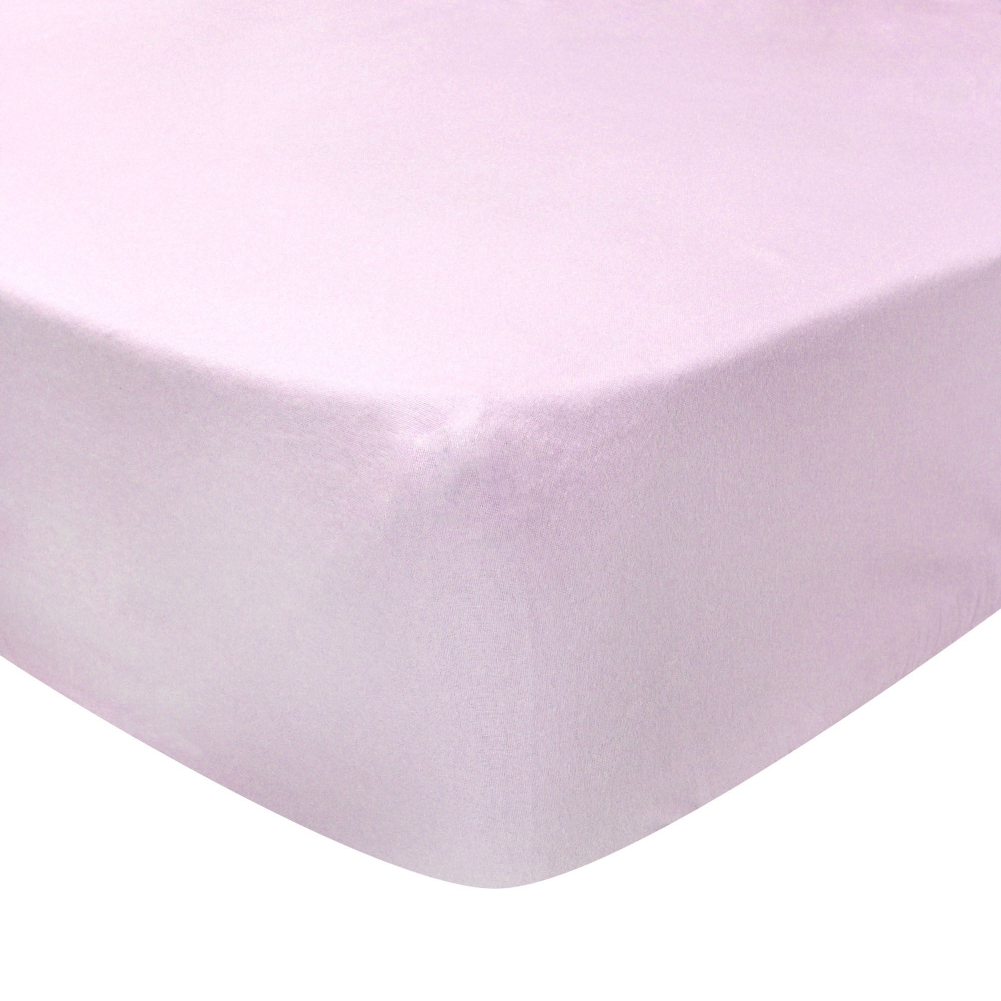 Photo of Luxury brushed cotton standard 28cm fitted sheet pale pink
