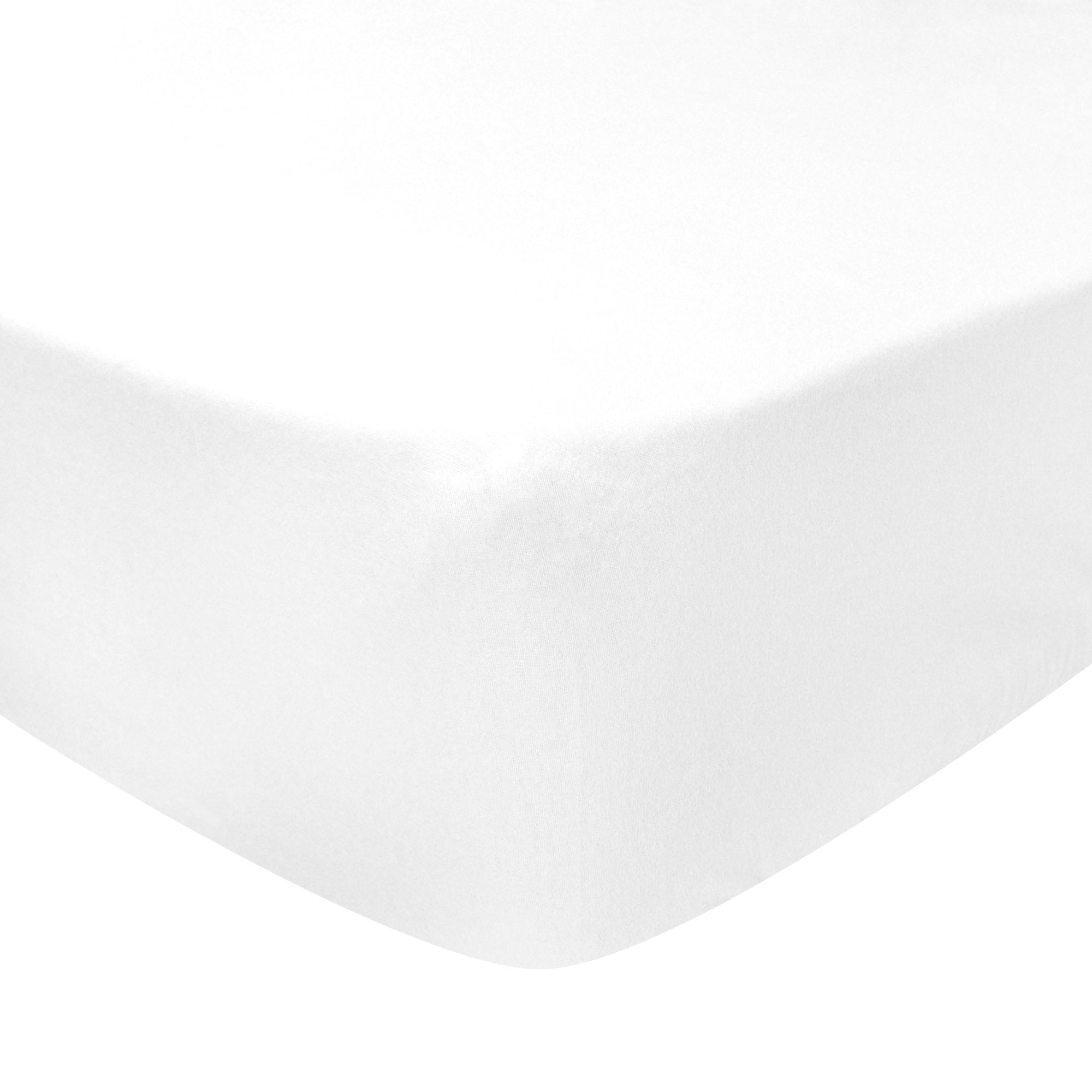 Photo of Luxury brushed cotton standard 28cm fitted sheet white