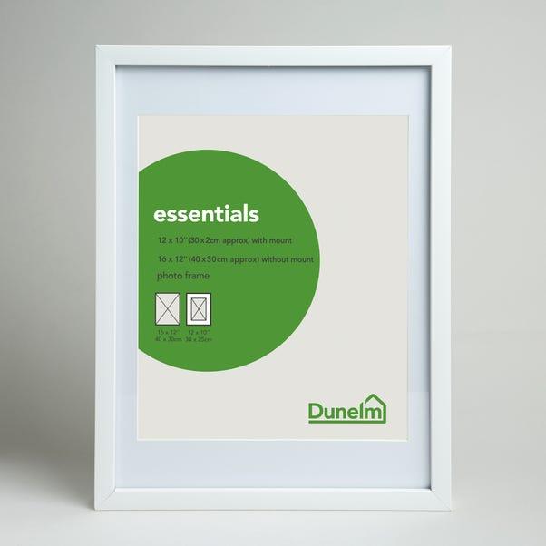 "Essentials Photo Frame 12"" x 10"" (30cm x 25cm) White"
