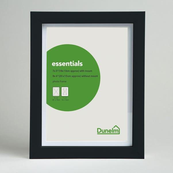 "Essentials Photo Frame 7"" x 5"" (18cm x 13cm) Black"
