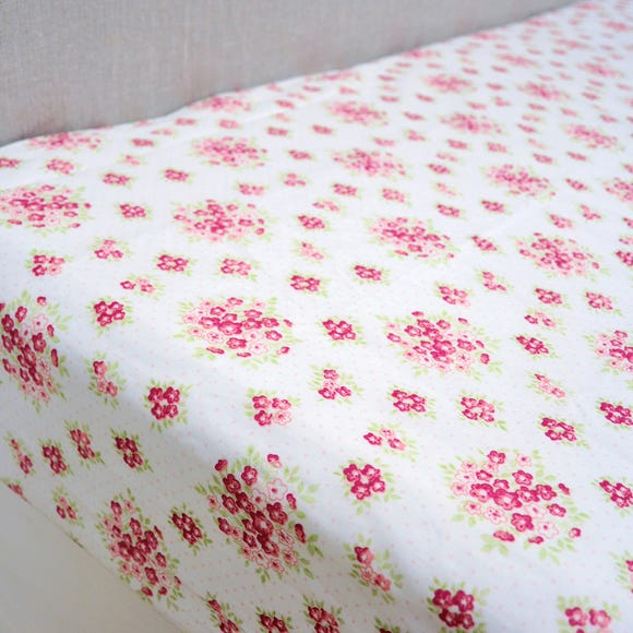 Katy Rabbit Pink 25cm Fitted Sheet  undefined