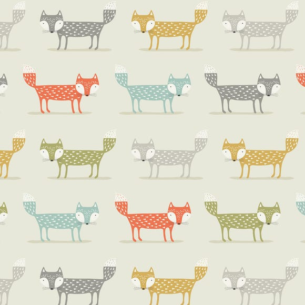 Foxy Fabric Natural