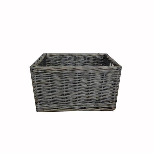 Rustic Romance Basket Grey