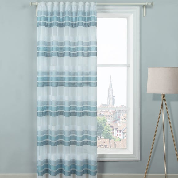 Cleo Blue Hidden Tab Single Voile Panel Blue undefined