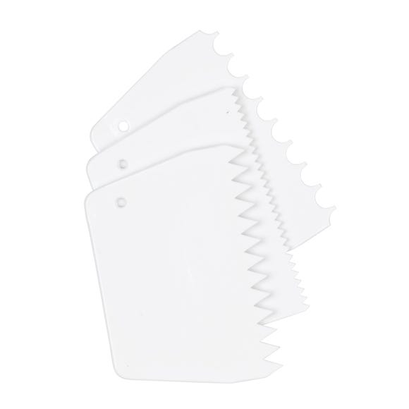 Tala 3 Patterned Cake Scrapers White