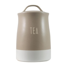 Rustic Romance Dipped Tea Canister Taupe