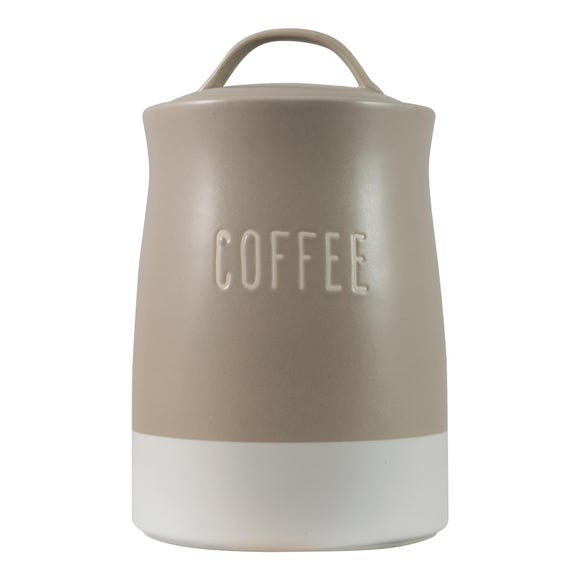 Rustic Romance Dipped Coffee Canister Multi Coloured