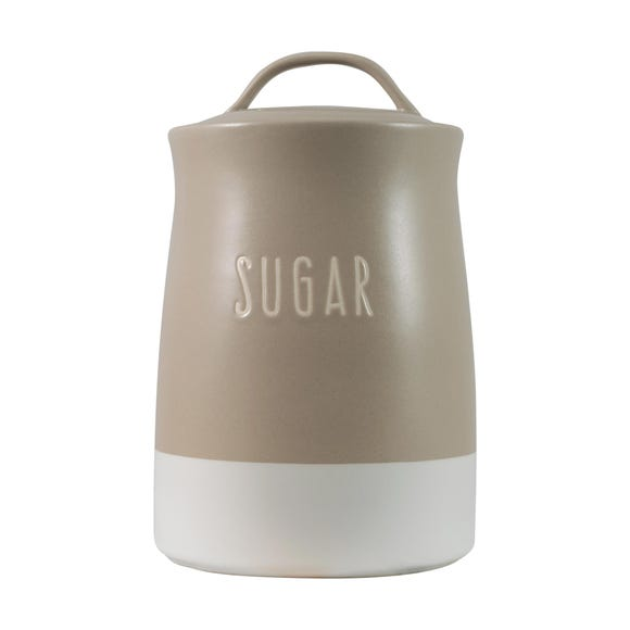 Rustic Romance Dipped Sugar Canister Multi Coloured