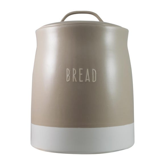 Rustic Romance Dipped Bread Crock Taupe Multi Coloured