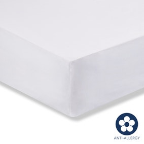 Fogarty 100% Cotton 180 Thread Count Anti Allergy Fitted Sheet