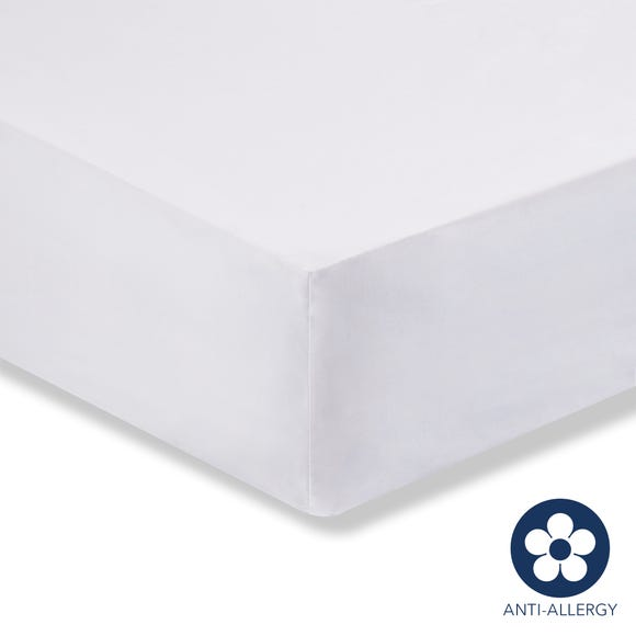 Fogarty 100% Cotton 180 Thread Count Anti Allergy Fitted Sheet White undefined