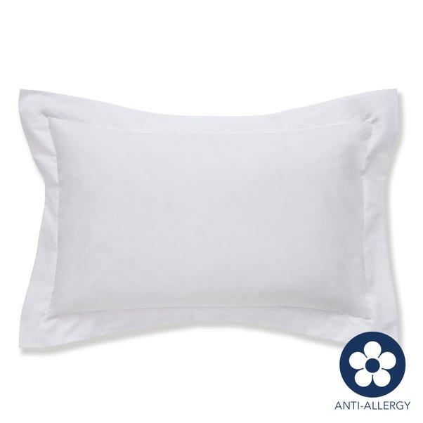 Fogarty 100% Cotton 180 Thread Count Anti Allergy White Oxford Pillowcase White