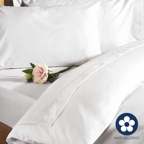 Fogarty 100% Cotton 180 Thread Count Anti Allergy White Duvet Cover White undefined