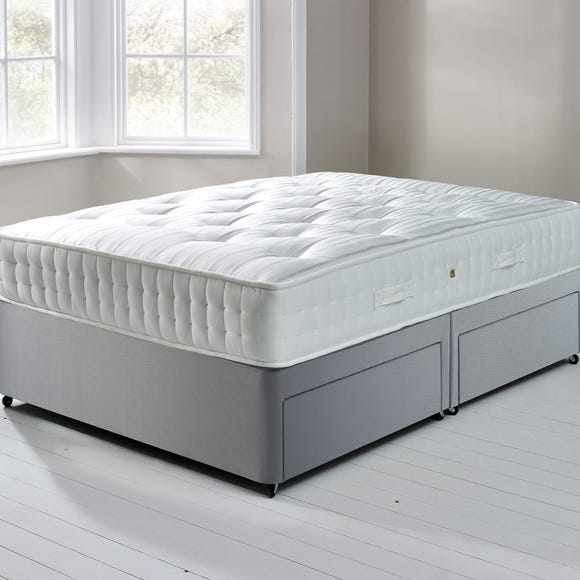 Fogarty Orthopaedic 1000 Mattress and Sprung Edge Divan Set with 4 Drawers Grey undefined