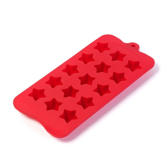 15 Slot Silicone Star Ice Cube Tray Red