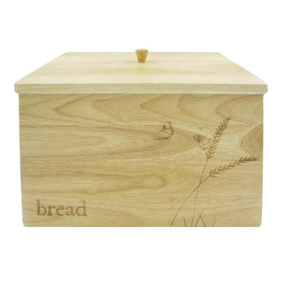 Rustic Romance Wooden Bread Crock Natural