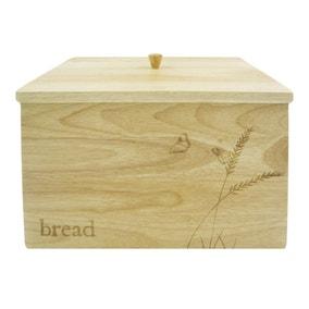 Rustic Romance Wooden Bread Crock