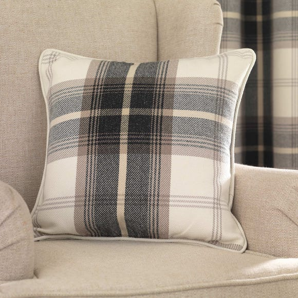 Highland Check Charcoal Cushion Charcoal