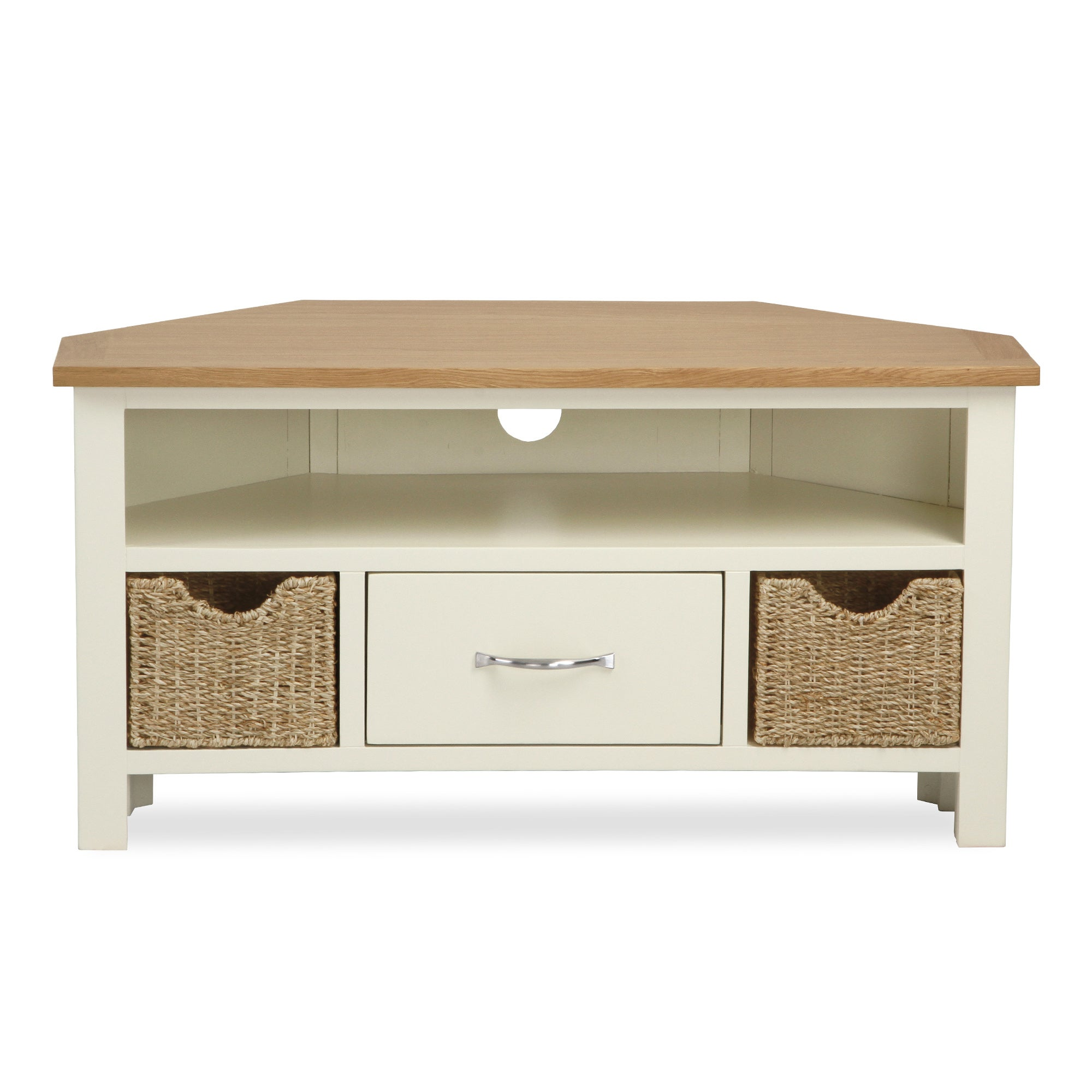 Photo of Sidmouth cream corner tv stand cream