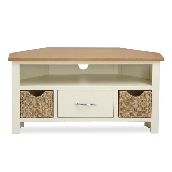 Sidmouth Cream Corner TV Stand Cream (Natural)