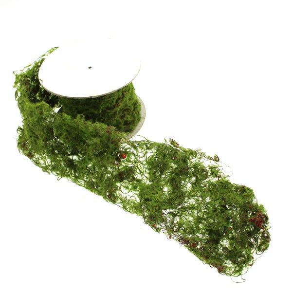 Artificial Decorative Moss Roll Green 90cm Green