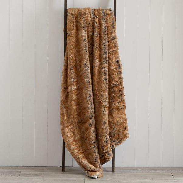 Faux Fur 150cm x 200cm Throw Faux Fur Natural