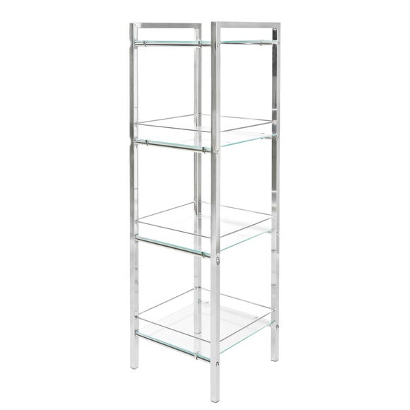 4 Tier Shelf Unit Chrome