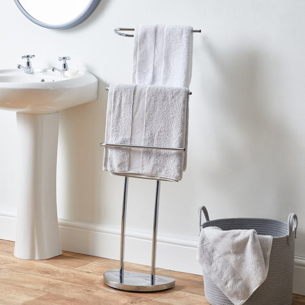 Towel Rail Stand Chrome