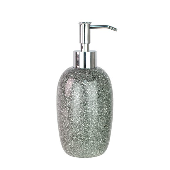 Sparkle Silver Resin Lotion Dispenser Silver