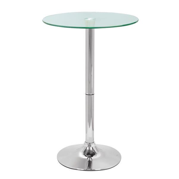 Galaxy Glass Bar Table Chrome