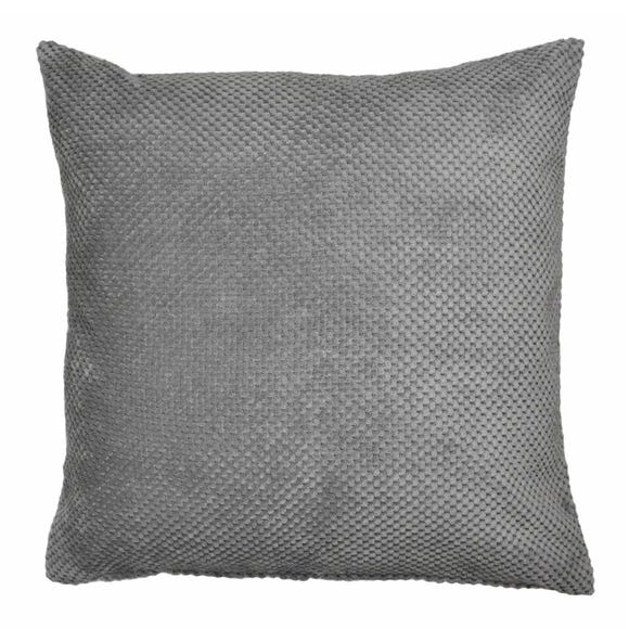 Chenille Spot Cushion Grey undefined