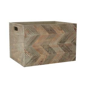 Chevron Pattern Wooden Box