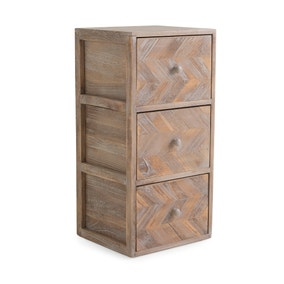 Chevron 3 Drawer Tower