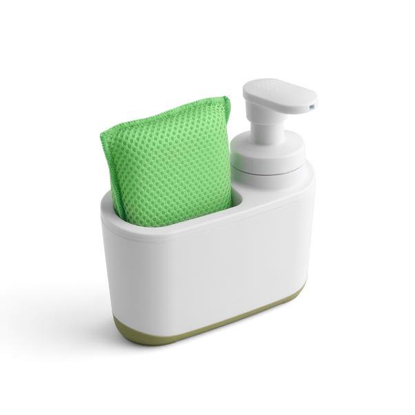 Addis Soap Dispenser and Sponge Holder White