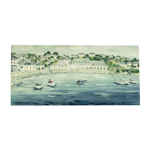 Claire Henley St Mawes Canvas Blue