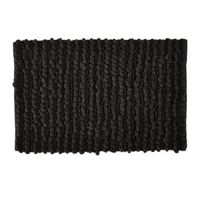 Black Bobble Bath Mat