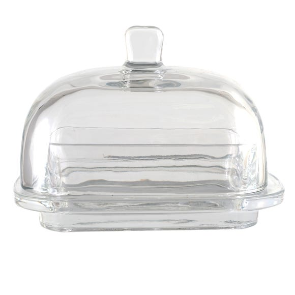 Glass Butter Dish Clear