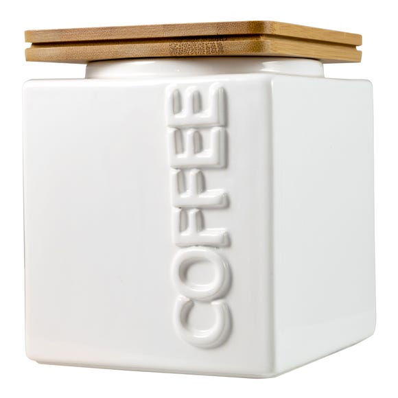 Maritime Coffee Canister White