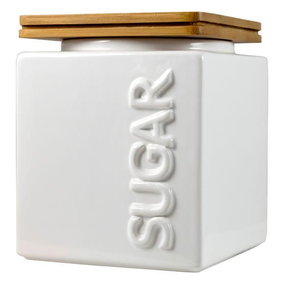 Maritime Sugar Canister White