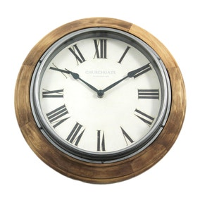 Wooden Edge 31cm Wall Clock