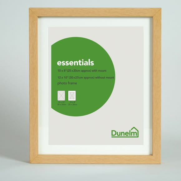"Essentials Photo Frame 10"" x 8"" (25cm x 20cm) Natural"