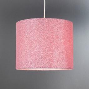 Pink Glitter Pendant Shade