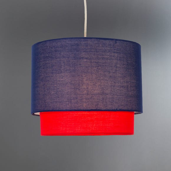 Navy 2 Tier Pendant Shade Navy