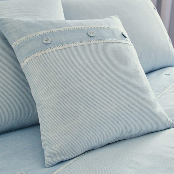 Millie Blue Square Cushion Blue