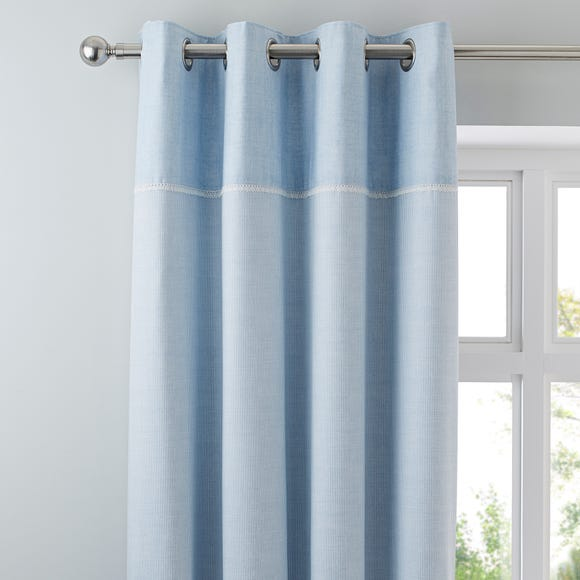 Millie Blue Thermal Eyelet Curtains  undefined