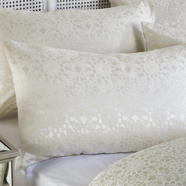Crochet Jacquard Cream Housewife Pillowcase Cream (Natural)