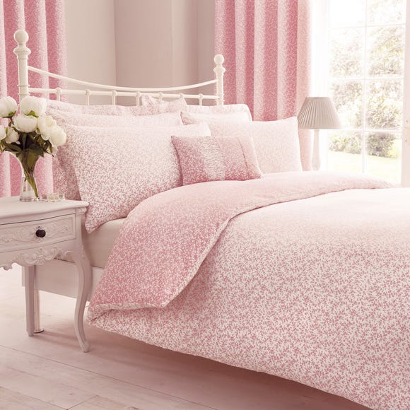Annie Pink Reversible Duvet Cover and Pillowcase Set Pink undefined