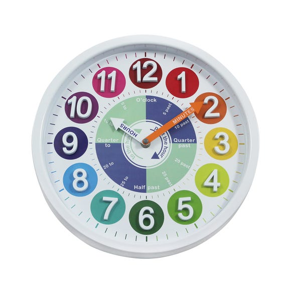 Tell The Time 31cm Wall Clock Multi Multi Coloured